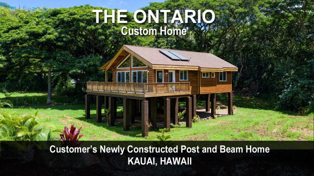 Cedar Homes Ontario Post Beam Cabin Plan Month