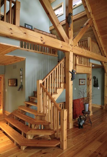 Stairs and railings cedar homes for Custom stair