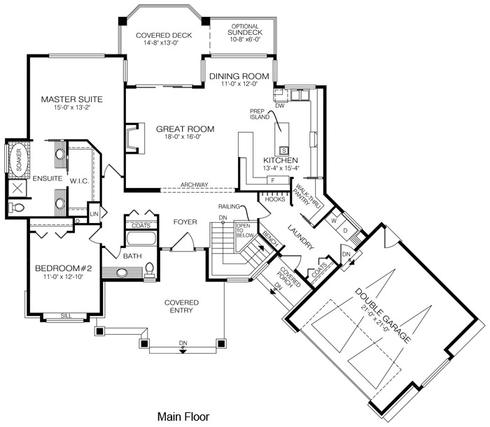 House plans the boynton cedar homes for Log home floor plans with garage and basement