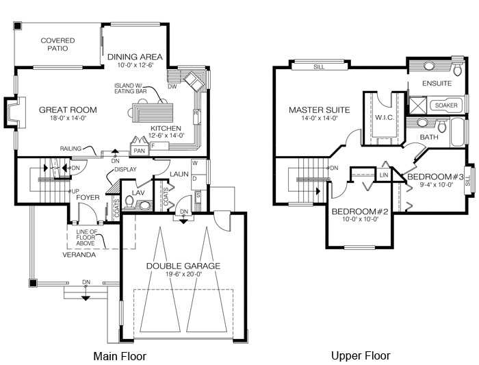 House plans the downing cedar homes for Cedar home floor plans