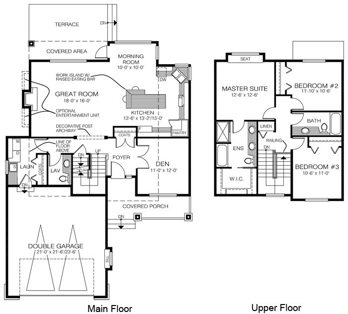 House plans the ross cedar homes for Cedar home floor plans