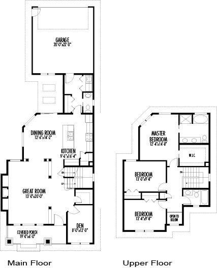 House plans the morgan cedar homes 30 feet wide house plans
