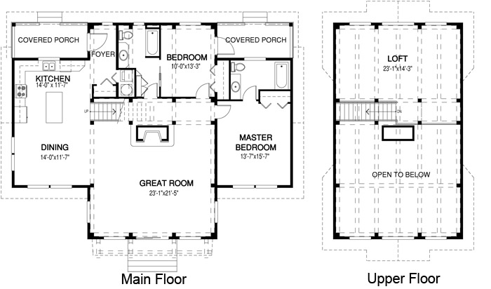 House plans the acadia cedar homes for Large great room house plans