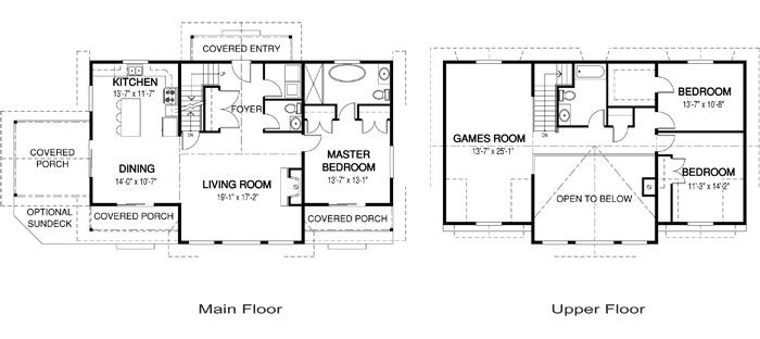House plans the antler trail cedar homes for Cedar home floor plans