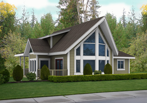 House plans the brockton 1 cedar homes for Country home kits