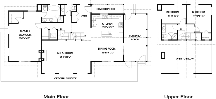 House plans the coastal cedar homes for Award winning cottage plans