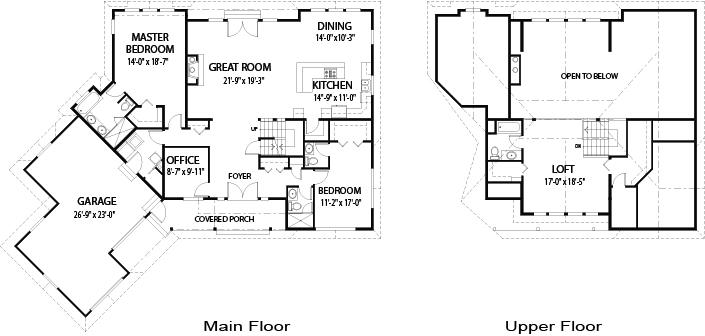 House plans the dakota cedar homes for Dakota floor plan