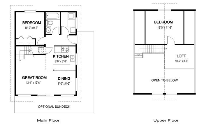 House plans the dove cedar homes for Cedar cabin floor plans