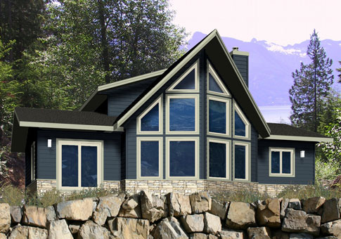 House plans the everett 2 cedar homes for Prow front home plans