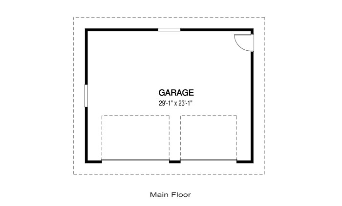 House plans the garage a cedar homes for Garage floor plan software