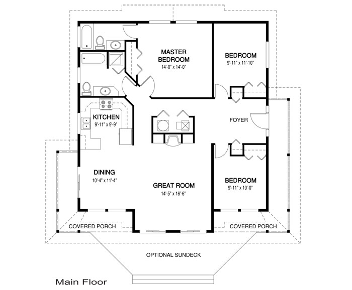 House plans the heron cedar homes for Carribean house plans