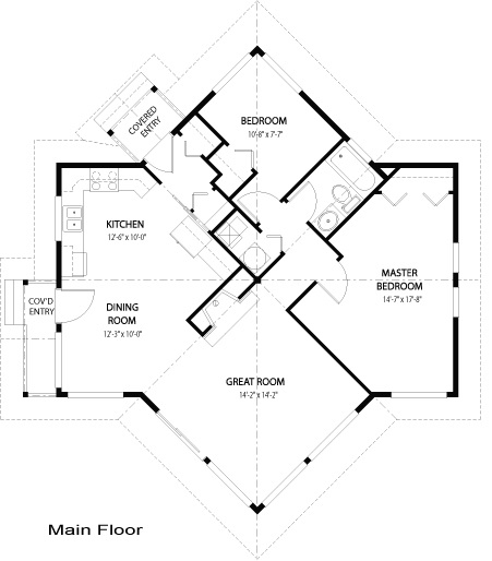 House plans the kestrel cedar homes for Unique small home plans