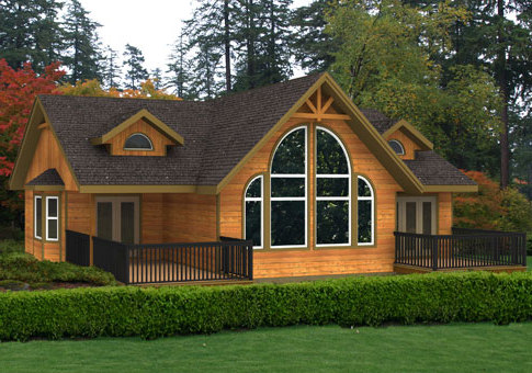 House plans the liberty 2 cedar homes for Open concept post and beam house plans