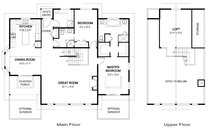 House plans the liberty 2 cedar homes for One story open concept floor plans