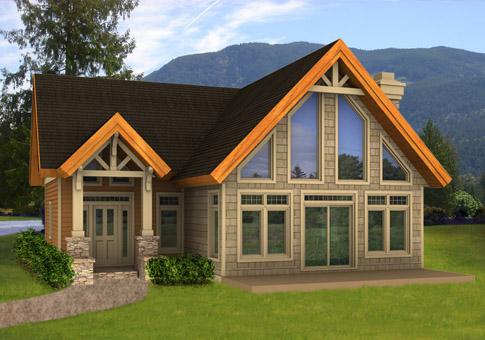 Small post beam house plans home design and style for Small post and beam cabin plans