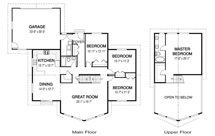 House plans the palmer 2 cedar homes for Ranch floor plans with mudroom