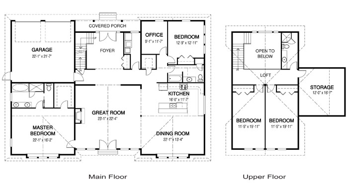 House plans the perlino cedar homes for Award winning floor plans