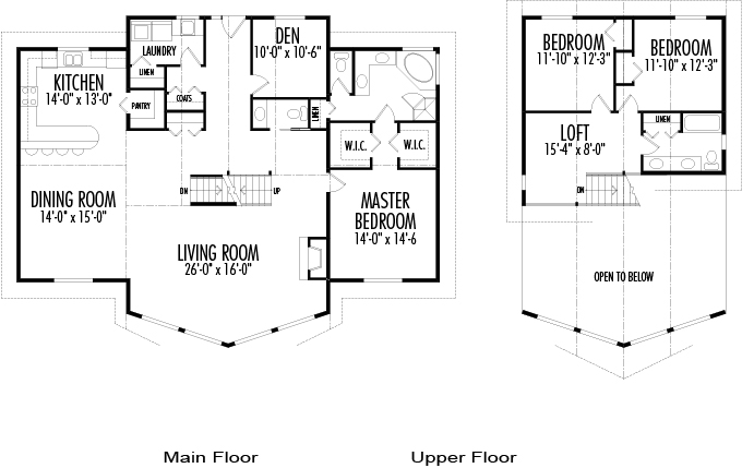 House plans the portland cedar homes for Prow house plans