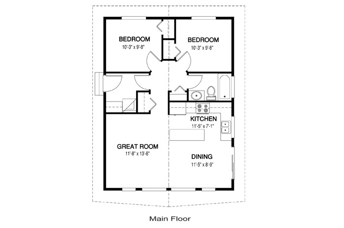 House Plans The Robin 2 Cedar Homes