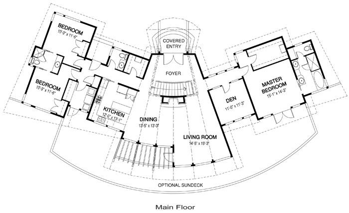 House Plans The Santa Monica Cedar Homes – Post And Beam House Plans Floor Plans