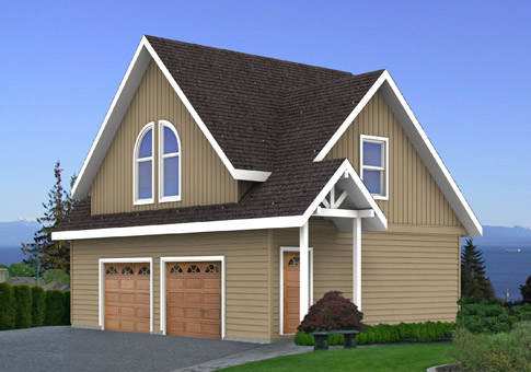 House plans taylor cedar homes for Garage kits with loft