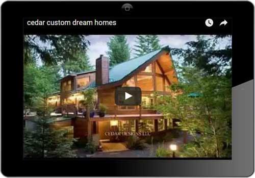 Cedar homes videos cedar homes for Custom dream house plans