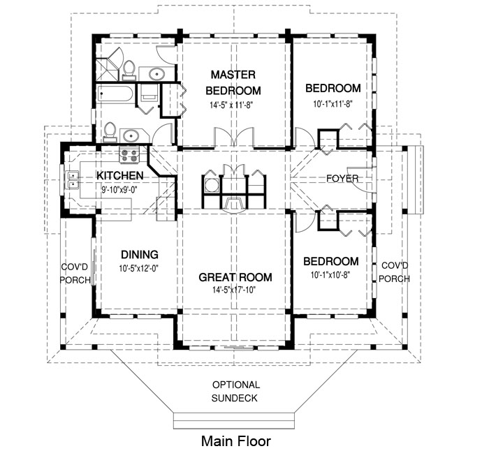 House plans the tyndale cedar homes for Cedar home floor plans