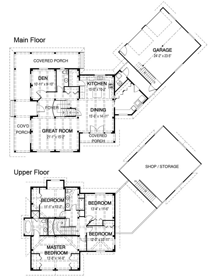 House plans the yale cedar homes for Cedar home floor plans