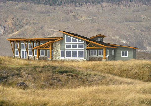 Toverno Post and Beam Family Cedar Home Plans