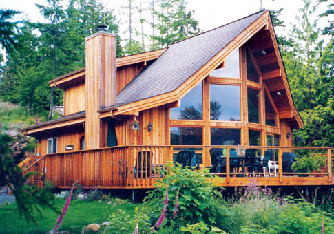 Vail Post and Beam Family Cedar Home Plans