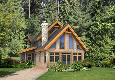 Valleyview Post and Beam Family Cedar Home Plans