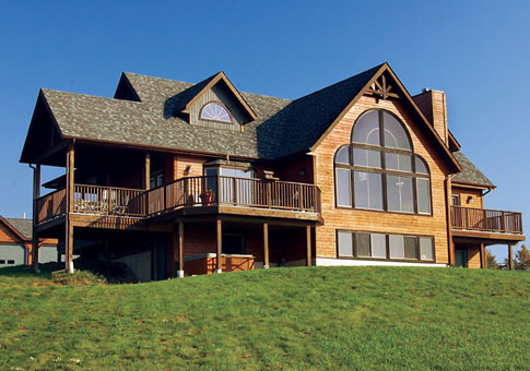 Weiland Post and Beam Family Cedar Home Plans