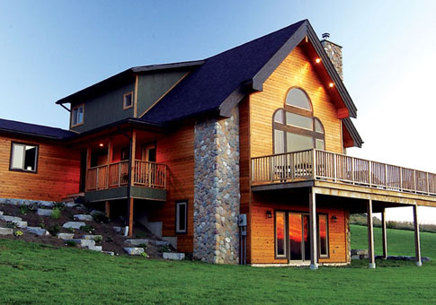 Wexford Post and Beam Family Cedar Home Plans
