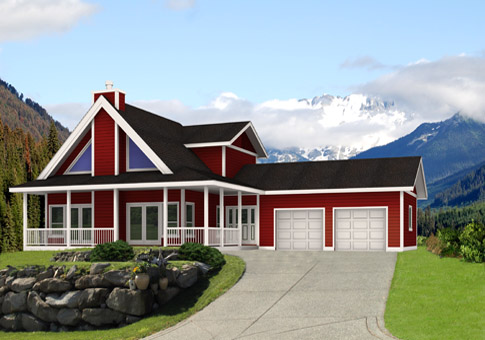 Willow 2 Architectural Family Cedar Home Plans