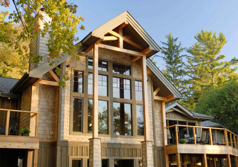 Windwood Post and Beam Family Cedar Home Plans