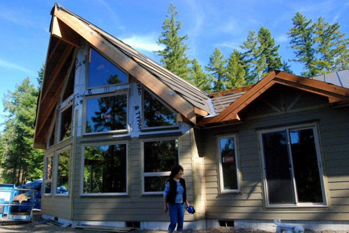 Dream Home Under Construction at Swift Lake Washington