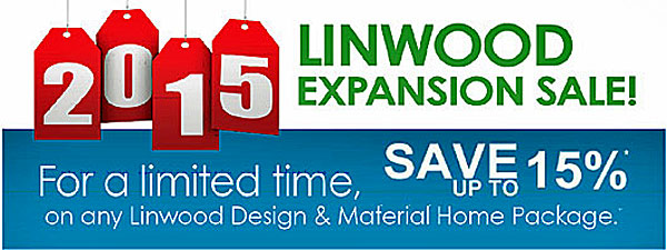 Cedar Homes 2015 Linwood Expansion Sale