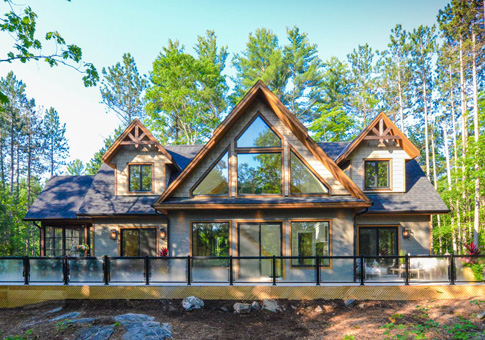 Muldrew cedar homes plan of month custom cedar homes for One story post and beam house plans