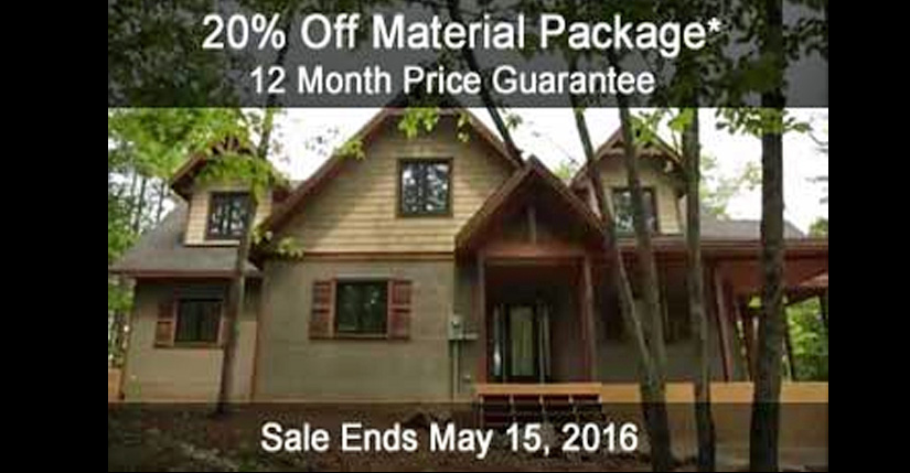 Save 20 Percent on Material Package