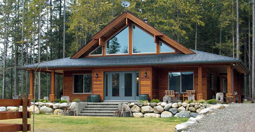 Cedar Homes Juneau 1 Post and Beam Plan Month