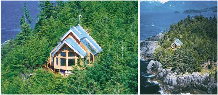 Sitka Small Cabins Post and Beam Cedar Home Cottages