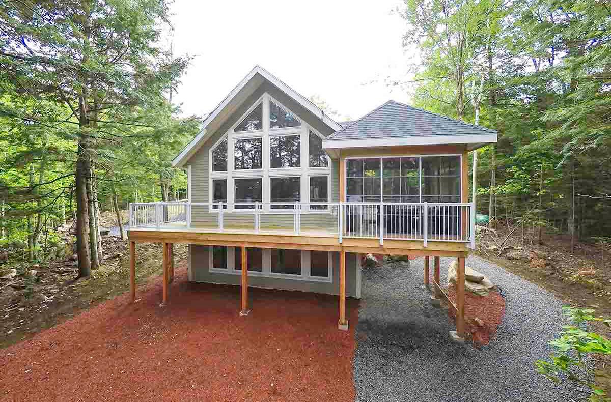 Wood Lake Custom Post Beam Cedar Home Cabin Cottage