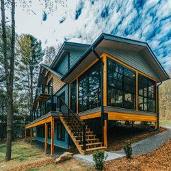 Halls Glen Custom Post Beam Cedar Home Cottage